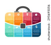 vector briefcase infographic.... | Shutterstock .eps vector #295695056
