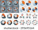 24 vector circle geometric... | Shutterstock .eps vector #295695164