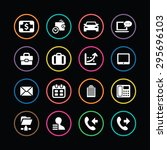 corporate icons universal set... | Shutterstock .eps vector #295696103