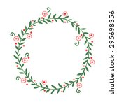 hand drawn abstract wreath ... | Shutterstock .eps vector #295698356