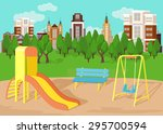 playground. vector flat... | Shutterstock .eps vector #295700594