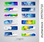 business design templates. set... | Shutterstock .eps vector #295701710
