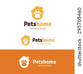 Stock vector pets home vector logo template 295705460