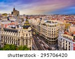 Madrid  Spain Cityscape Above...