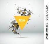 abstract composition  a tornado ... | Shutterstock .eps vector #295709324