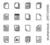 paper icon  document icon ... | Shutterstock .eps vector #295715540