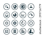 diagram icons universal set for ... | Shutterstock .eps vector #295716779