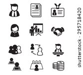 human resource   staff ... | Shutterstock .eps vector #295718420