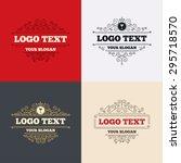 royal flourishes calligraphic.... | Shutterstock .eps vector #295718570