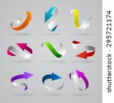 stylish glossy 3d curly arrows... | Shutterstock .eps vector #295721174