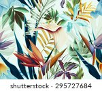 seamless tropical flower  plant ... | Shutterstock . vector #295727684