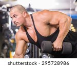muscular male bodybuilder... | Shutterstock . vector #295728986
