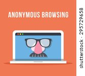 anonymous browsing flat... | Shutterstock .eps vector #295729658