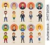 set of business people...   Shutterstock .eps vector #295730534