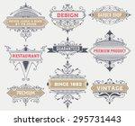 vintage logo template  hotel ... | Shutterstock .eps vector #295731443