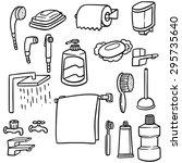 vector set of bathroom equipment | Shutterstock .eps vector #295735640