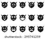 devilish expressions smiley... | Shutterstock .eps vector #295741259