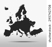 map of europe | Shutterstock .eps vector #295742708