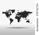 map of world | Shutterstock .eps vector #295742714