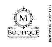 m letter logo  monogram design... | Shutterstock .eps vector #295745543