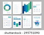 brochure design template set.... | Shutterstock .eps vector #295751090