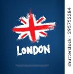 grunge great britain flag | Shutterstock .eps vector #295752284