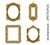 old decorative frame   handmade ... | Shutterstock . vector #295752923