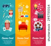 realistic cinema movie poster... | Shutterstock .eps vector #295755314