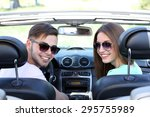 young pretty couple in... | Shutterstock . vector #295755989