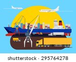 shipping composition idea with... | Shutterstock .eps vector #295764278