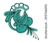 hand draw line art ornate... | Shutterstock .eps vector #295766093