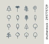 set of line icons. trees  palm... | Shutterstock .eps vector #295775729
