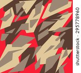 geometric camouflage pattern... | Shutterstock .eps vector #295778960