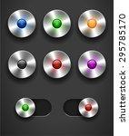 set of color round metal slider