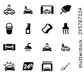 vector black car wash icon set. | Shutterstock .eps vector #295787324