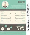 cool resume cv curriculum vitae ... | Shutterstock .eps vector #295787903