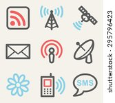 communication web icons  square ... | Shutterstock .eps vector #295796423