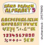 vector hand drawn alphabet for... | Shutterstock .eps vector #29579890