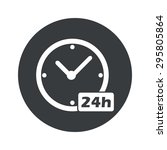 image of clock with text 24h in ...