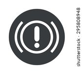 image of alert sign in black...