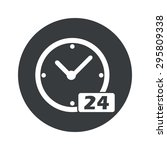 image of clock with text 24 in...