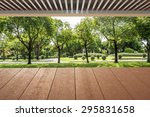 wood planks floor and roof near ... | Shutterstock . vector #295831658