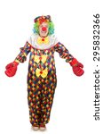 clown with boxing gloves... | Shutterstock . vector #295832366