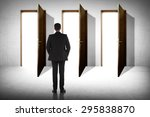 asian business man has to... | Shutterstock . vector #295838870