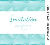 invitation with watercolor... | Shutterstock .eps vector #295857854