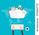 flat design vector illustration ... | Shutterstock .eps vector #295860770
