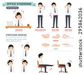 office syndrome infographic... | Shutterstock .eps vector #295862036
