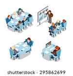 business negotiations and...   Shutterstock . vector #295862699