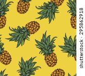 seamless tropical background... | Shutterstock .eps vector #295862918