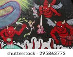 new york   july 5  2015  mural... | Shutterstock . vector #295863773